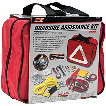 3a01197fd69 Performance Tool W1555 Deluxe Roadside Emergency Assistance Kit with Jumper  Cables
