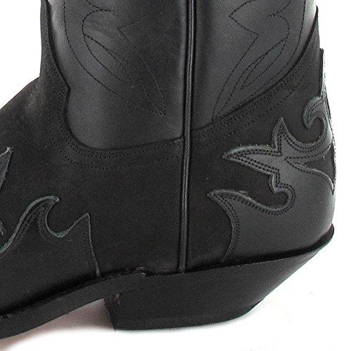 Tony Mora 1216 - Botas De Vaquero de cuero unisex negro - Negro