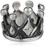 King Baby Sterling Silver Crown Ring, Size 7