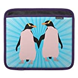 Laptop Sleeve 11/11.6 Inch, Pink And Blue Penguins Holding Hands Ipad Sleeve Notebook/MacBook Pro/MacBook Air Laptop