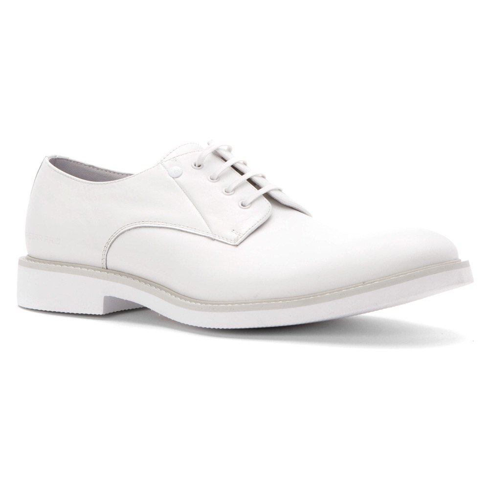 G Star Men's Morton Mono Oxford, White, 44 EU/11 M US