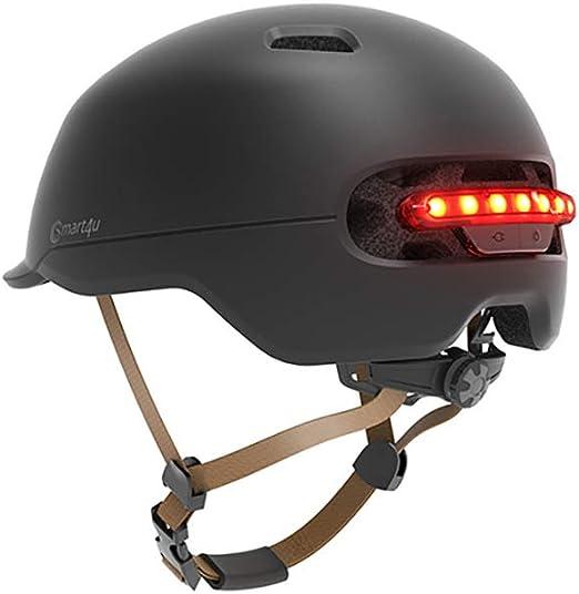 Casco Inteligente, Smart Smart Scooter eléctrico Bicicleta Balance Casco para Coche Iluminación automática LED Cascos al Aire Libre Casco Harley,A: Amazon.es: Hogar