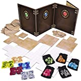 Game Master Essentials: Roleplaying Starter Kit   Customizable GM Screen, 44 Reversible Map Tiles, 5 Character Health Trackers, 5 Polyhedral Dice Sets   Tabletop Fantasy Game Beginner Accessories