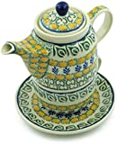 Polish Pottery Herb Garden Tea for One