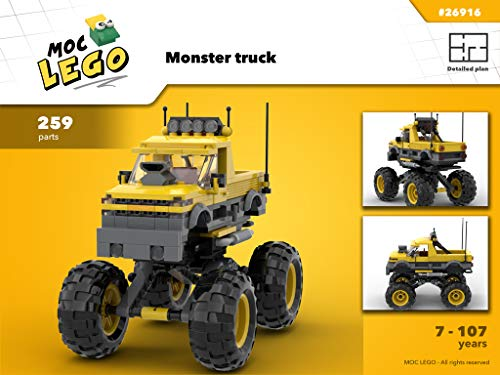 Monster truck (Instruction Only): MOC LEGO por Bryan Paquette