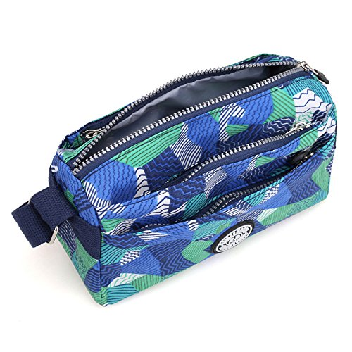 Shoulder Messenger body Cross Small Lightweight Bag Small Nylon Floral Water Resistant Bags p8pHXA