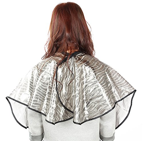 Waterproof Short Hair Cutting All Purpose Cape Gown Barber Hairdressing Salon Hair Dye Perm Short Cloth with Velcro Closure by Perfehair (Image #2)