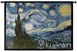 Starry Night Wall Tapestry Large by Pure Country Weavers / Tapestry Wall Decor / art for your home or office. / 53'' x 40'' -100% Cotton / Made and shipped from the USA.