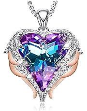 MINCHEDA Collana di Cuore per Donna con Cristalli Regalo di Gioielli per San Valentine, Compleanno, Anniversario, Festa Della Mamma