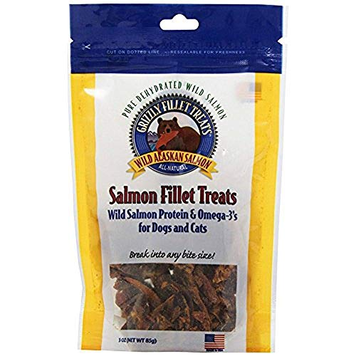 Grizzly Pet Products Cat/Dog Salmon Fillet Treat (Pack of 2)