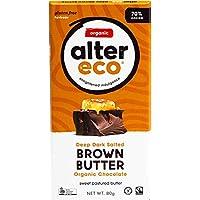 ALTER ECO Deep Dark Salted Brown Butter Organic Chocolate Bar 80 g,  80 g
