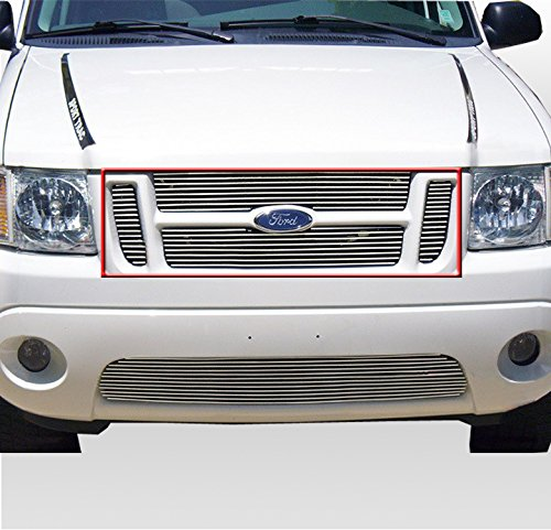 (ZMAUTOPARTS Upper Billet Grille Grill Insert For 2001-2006 Ford Explorer Sport Trac)