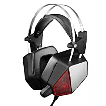 Gaming Headset - Wired, Over-Ear Headphones For PC Computer - Stereo Surround Sound - Built-In Microphone, Changing LED Lights - with USB Cable Plus 3.5 mm Audio Jacks