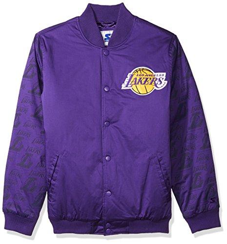 rs Men's Varsity Bomber Jacket, XX-Large, Purple (Lakers Jackets)