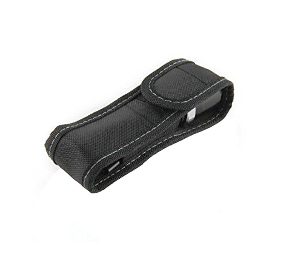Hosaire Funda de Linterna con Tapa y Clip para Cintura Cinturón de Nylon Negro