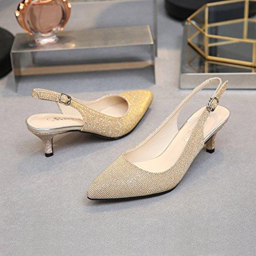 Gold Cinturino Donna Caviglia OCHENTA Glitter Dietro La dvwPOqX