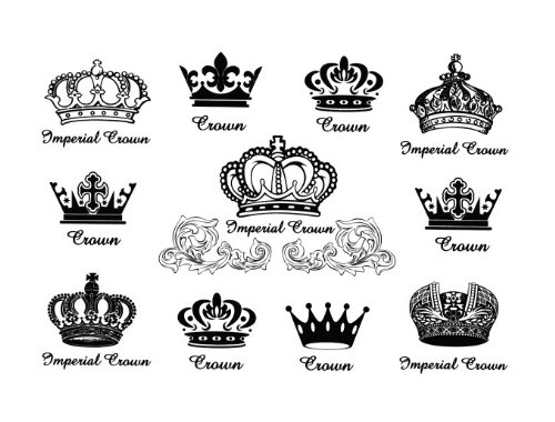 Various Queen King Crown Finger Hand Temporary Tattoo Sleeves Sz 8