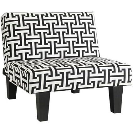 Fantastic Amazon Com Jedajeda Black And White Kebo Chair Geometric Short Links Chair Design For Home Short Linksinfo