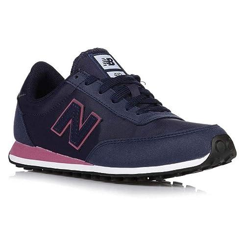 512ef339b0d New Balance Zapatillas Mujer WL410 Nap Azul Marino y Rosa T-40  Amazon.es   Zapatos y complementos