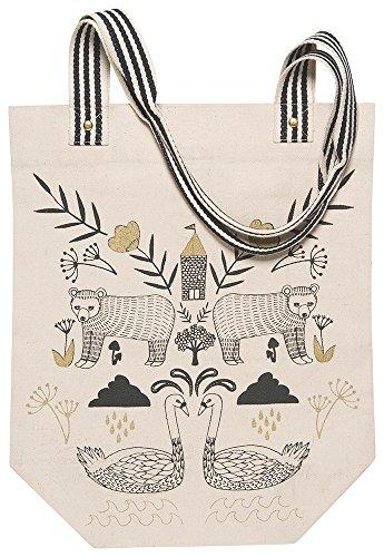 Danica Studio Studio Cotton Tote Bag, Wild (Metallic Striped Tote)