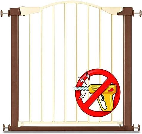 QIANDA Barrera de Seguridad Bebé Puerta de la Escalera Extra Ancho Compuerta De Presión Auto Cerrado La Seguridad Fuerte Baby Gate for Escalera, Puertas (Size : 195-204cm): Amazon.es: Hogar