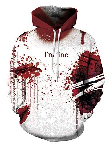 Alistyle Fanient Unisex Boys Girls 3D Blood Printed Halloween Hoodies Sweatshirts Pullover Hooded Shirts]()