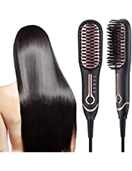 Hair Straightener Brush,Ionic Hair Straightening Brush...