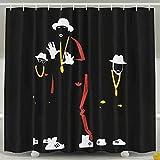 Yokii Cool dance steps shower curtain, street dance, mechanical dance, personalized illustration design,popping popper,Bathroom decoration