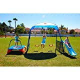 "IronKids ""Cooling Mist"" Inspiration 250XL Fitness Playground Metal Swing Set 