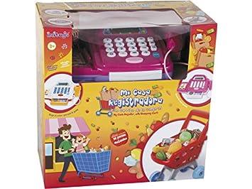 IMITOYS Caja Registradora Rosa Luces y Sonidos con Carro de la Compra 30 Piezas Surtido: Amazon.es: Juguetes y juegos
