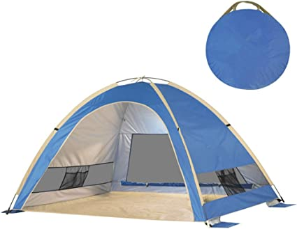 Amazon Com Andesgenme Dome Tent Camping Cabin 2 3 Person Lightweight Waterproof With Carry Bag For Backpacking Picnic Hiking Fishing Outdoor Use 210x160x130cm Blue Sports Outdoors