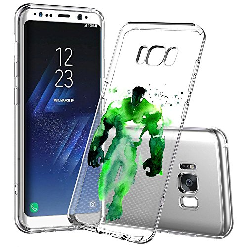 Price comparison product image Samsung Galaxy S8 Plus Case, Onelee - Marvel Hulk Waterpaint [Never fade] Shockproof Protective Clear Soft TPU Case Cover for Samsung Galaxy S8 Plus