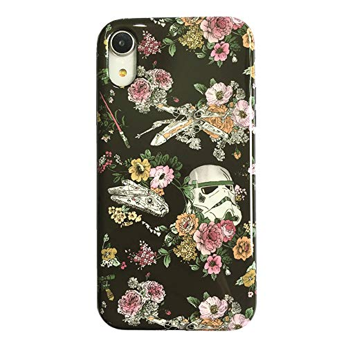- Floral Star Wars Protective Case for iPhone XR, Lightweight Flexible TPU Raised Edges Scratch Resistant Glossy Rubber Silicone Phone Cover for iPhone XR
