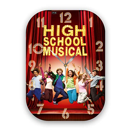 VMA Wood Exclusive Clock High School Musical - Unique Item for Home and Office, Original Present for Every Occasion.