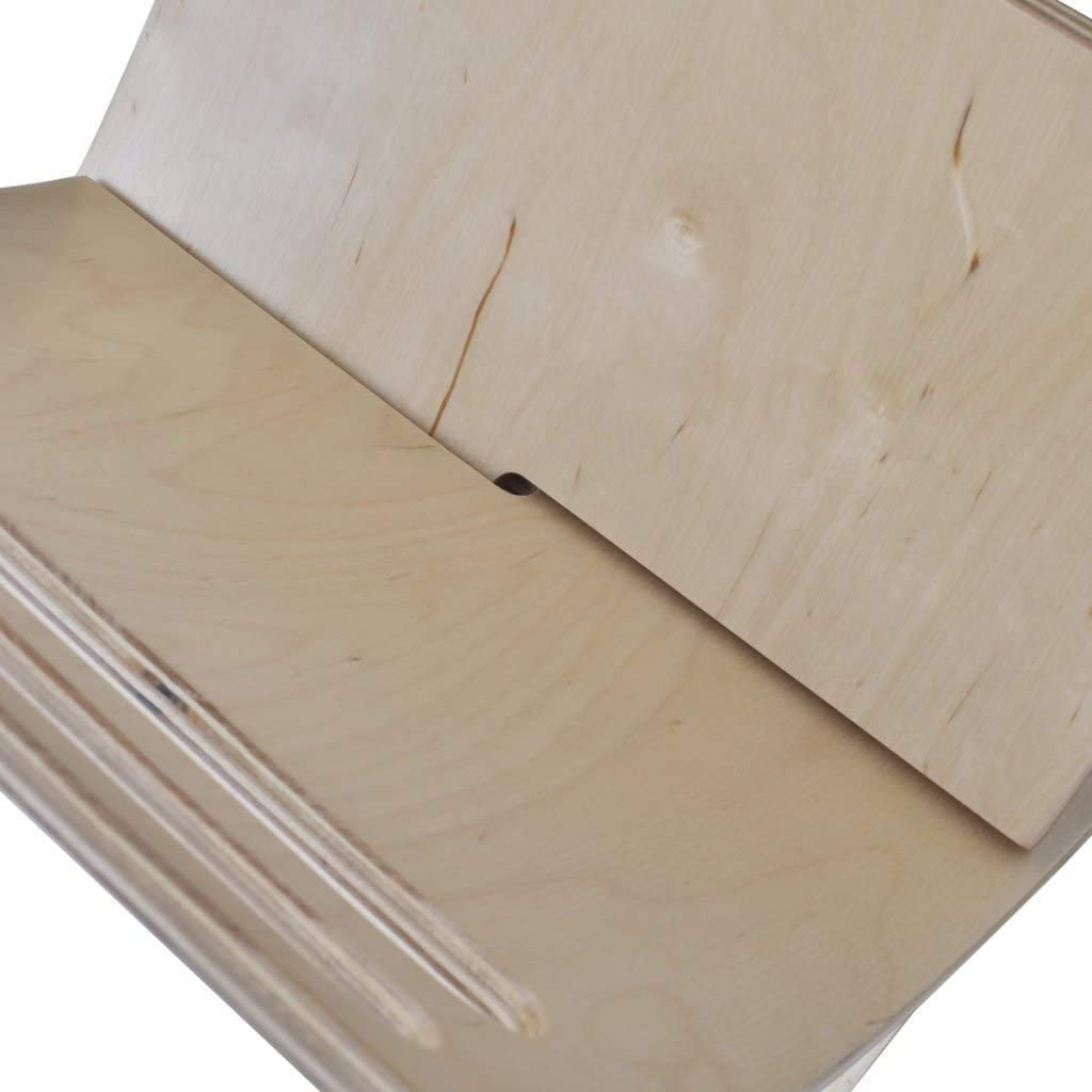 29,5 x 29,5 x 26,5 cm Revistero de Madera Soporte Revistas en Forma de Libro Abierto Dise/ño Moderno Estilo Minimalista Madera de /Álamo Natural