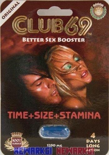 2 Pk Club 69 Better Sex Booster 1250mg 4 Days Long Action for Men Sex Pill