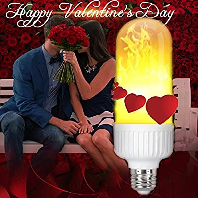 LED Flame Effect Light Bulbs, 99pcs LED Beads Simulated Decorative Flickering Light Lamps, Atmosphere Lighting Vintage Flaming Light for Holiday Decoration/ Hotel/ Bars/ Home/ Restaurants
