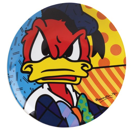 Disney Collectible Plates (Disney by International Artist Romero Britto for Enesco Donald Duck Plate 8 IN)