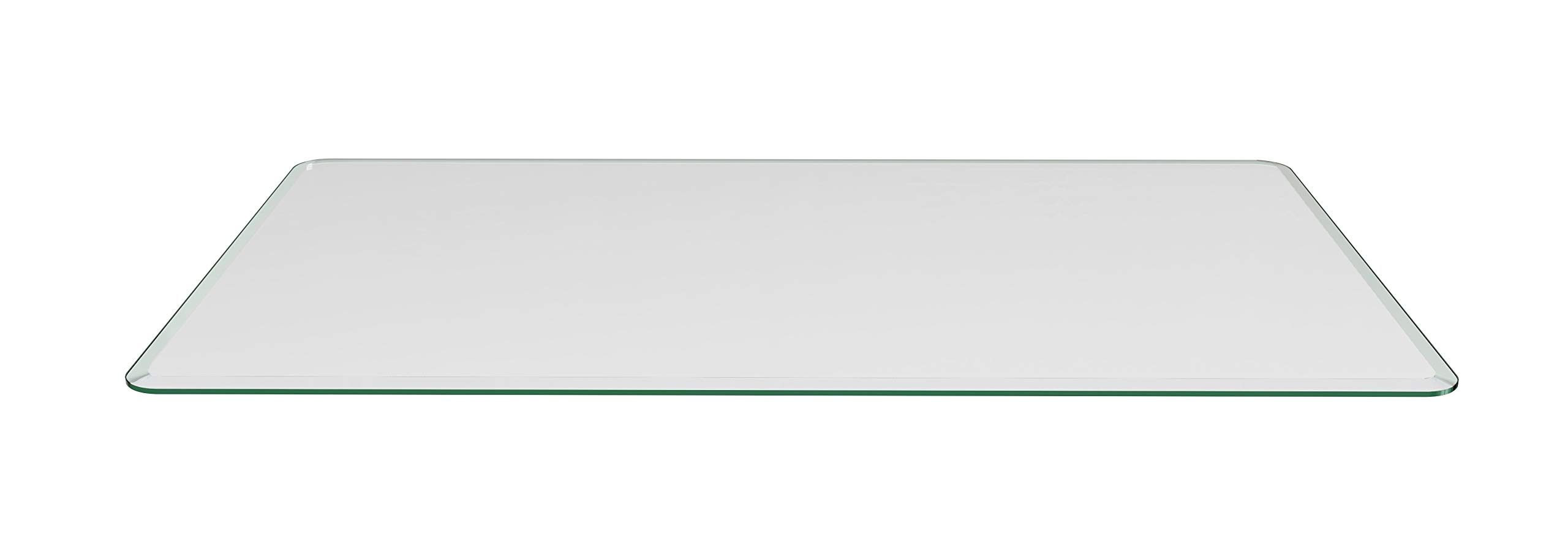 Milan Glass Top, 36'' x 60'' Rectangle, Clear by MILAN