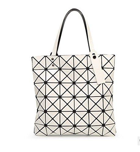 BAO Bolso Bolso de hombro Geometry Diamond Lingge Bag Lady Bag Personalidad de la moda, navy blue white