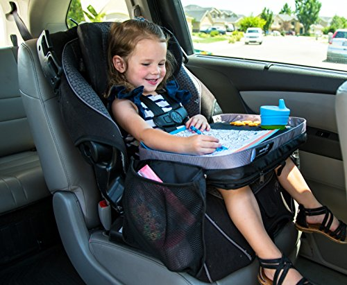 Kids E-Z Travel Lap Desk Tray by Modfamily-Universal Fit for Car Seat, Stroller & Airplane - Organized Access to...