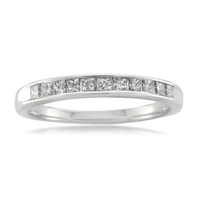 14k White Gold Princess-cut Diamond Bridal Wedding Band Ring (1/2 cttw, I-J, I2-I3)