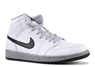official photos b69c0 0654d Image Unavailable. Image not available for. Color  Jordan Mens AIR Jordan 1  MID White Black Wolf Grey Size 12