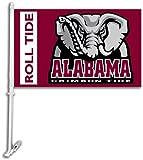 BSI NCAA Alabama Crimson Tide Car Flag Elephant Logo with Free Wall Brackett