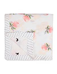 Miracle Baby Bamboo Swaddle Blankets Muslin Cotton Large Swaddle Wrap Shower Gift Double Layers Stroller Cover Receiving Blankets 47''x 47''(Rose)