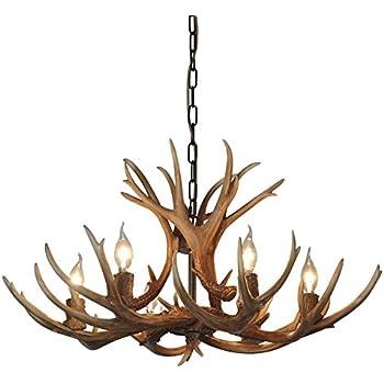 Antler Chandelier 4 Light Deer Horn Pendant Light 17W x 208 Tall