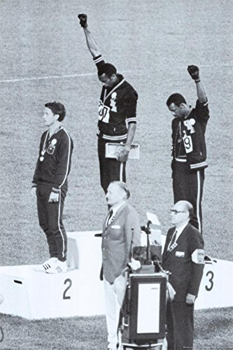 Open Print Edition Sports (Black Power, Mexico City Olympics 1968 Poster 24 x 36in)