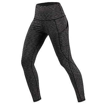 Pantalones Yoga Mujeres Mallas Deportivas Color sólido con ...
