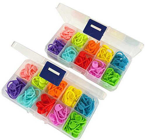 240 Pieces Knitting Crochet Locking Stitch Markers Stitch Needle Clip Counter 10 Colors 240 Pieces