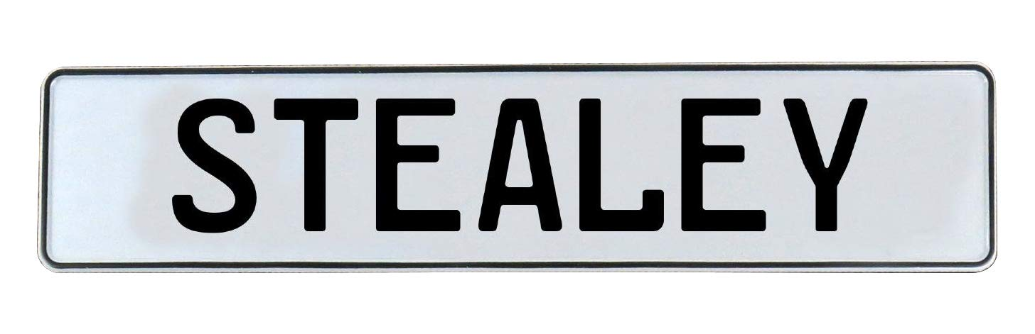 Vintage Parts 754716 Wall Art Stealey White Stamped Aluminum Street Sign Mancave